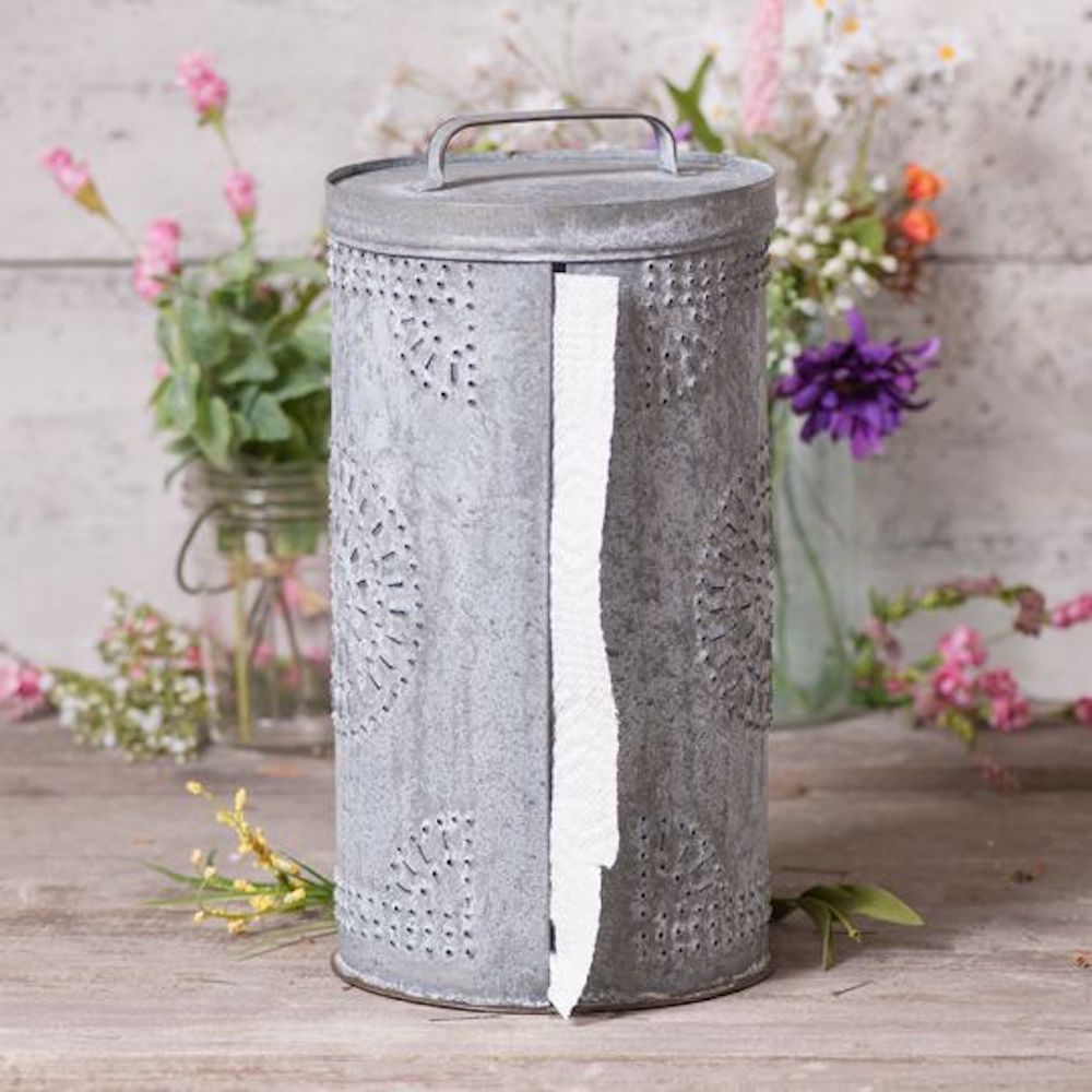 Weathered Zinc Paper Towel Holder