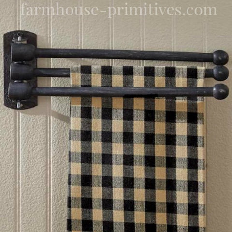 Wood Three Prong Drying Rack - Farmhouse-Primitives