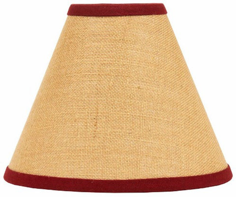 Burlap Red Stripe Lampshade