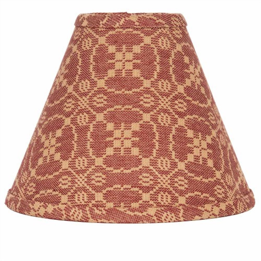 Marshfield Jacquard Barn Red Lampshade - Farmhouse-Primitives