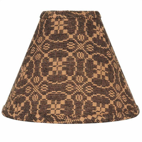Marshfield Jacquard Black Lampshade - Farmhouse-Primitives