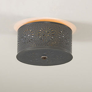 Round Cake Pan Ceiling Light - Farmhouse-Primitives