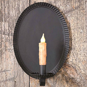 Tinner's Oval Wall Sconce - Farmhouse-Primitives