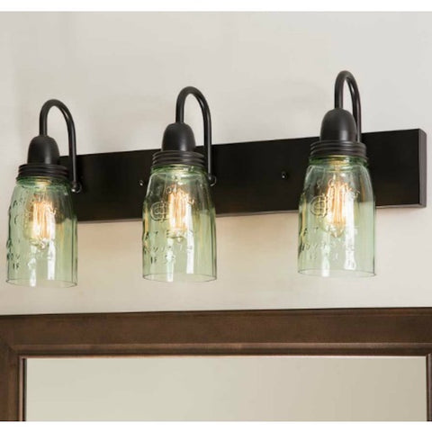 Mason Jar Vanity Wall Light - Farmhouse-Primitives