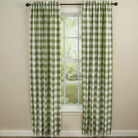 Wicklow Green Window Curtains