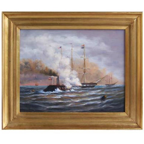 CSS Merrimack and USS Congress Framed - Farmhouse-Primitives