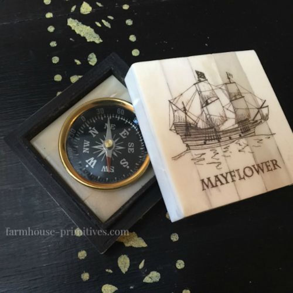 Mayflower Compass - Farmhouse-Primitives
