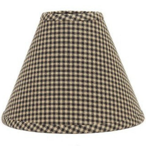 Newbury Gingham Black Lampshade - Farmhouse-Primitives