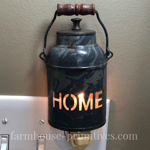 Lunch Pail Night Light - Farmhouse-Primitives