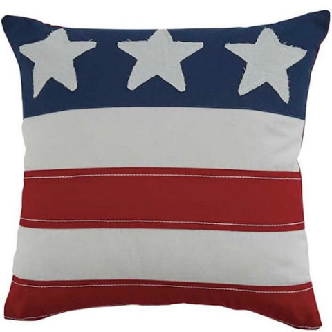 Three Star Americana Accent Pillow - Farmhouse-Primitives