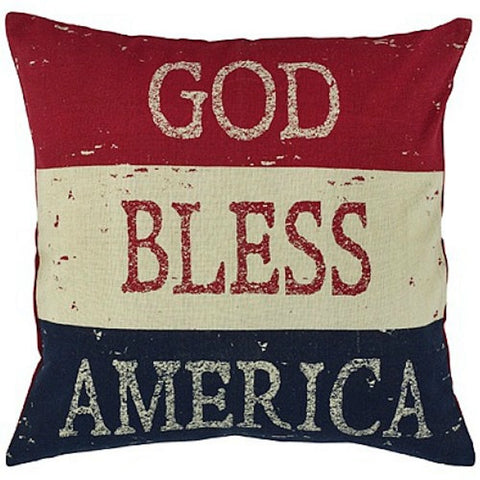 God Bless America Pillow