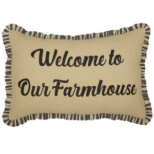 Welcome to Our Farmhouse Accent Pillow - Farmhouse-Primitives
