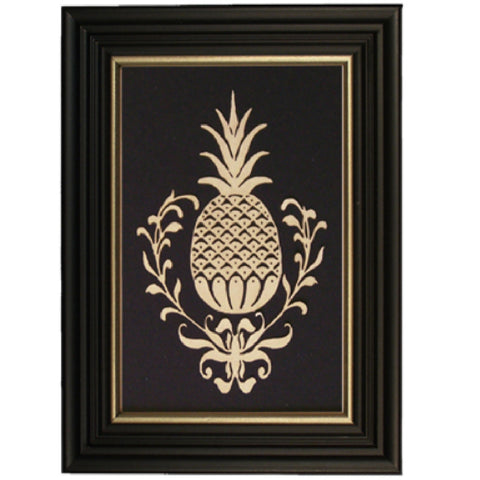 Pineapple Scherenschnitte Framed - Farmhouse-Primitives