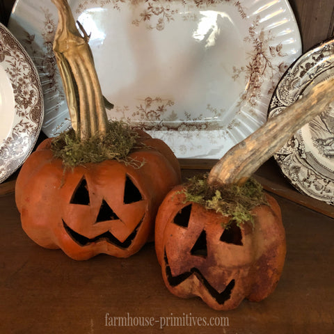 Happy Jack Pumpkin SIZE CHOICE - Farmhouse-Primitives