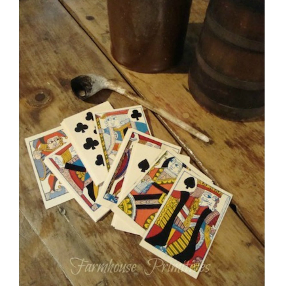 18th Century Playing Cards - Farmhouse-Primitives