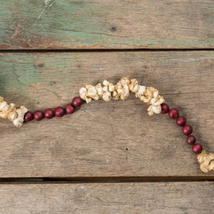 Popcorn and Cranberry Garland - Farmhouse-Primitives
