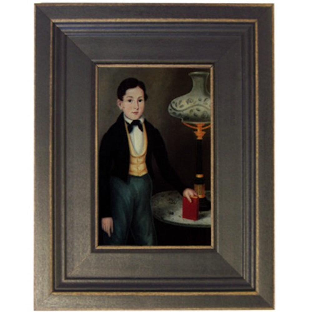 Boy with Lamp Framed - Farmhouse-Primitives