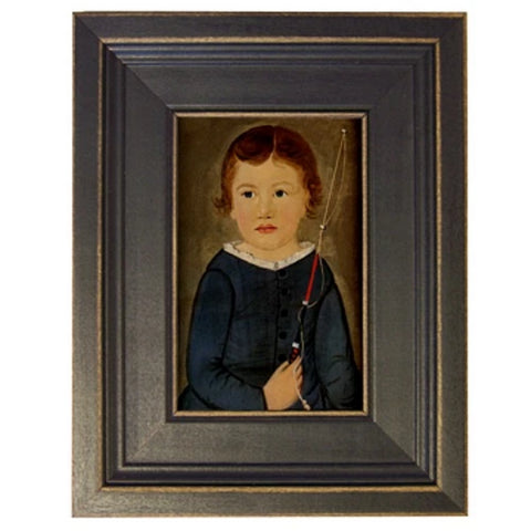 Boy with Whip Framed - Farmhouse-Primitives