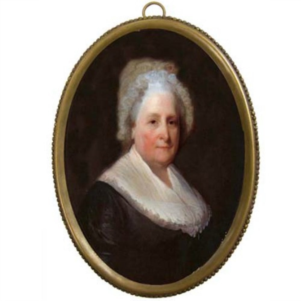 Martha Washington Oval Brass Frame - Farmhouse-Primitives