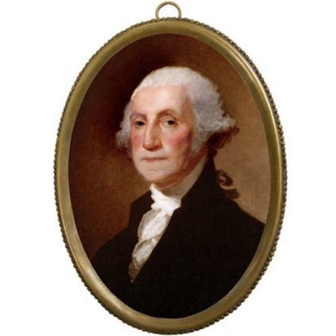 George Washington Oval Brass Frame - Farmhouse-Primitives