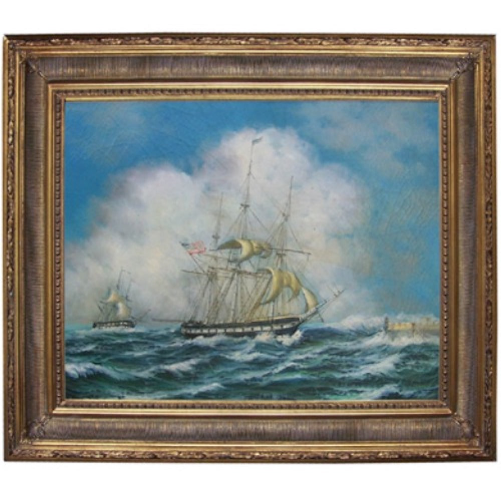 Frigate Constitution in High Seas 1838 Framed - Farmhouse-Primitives