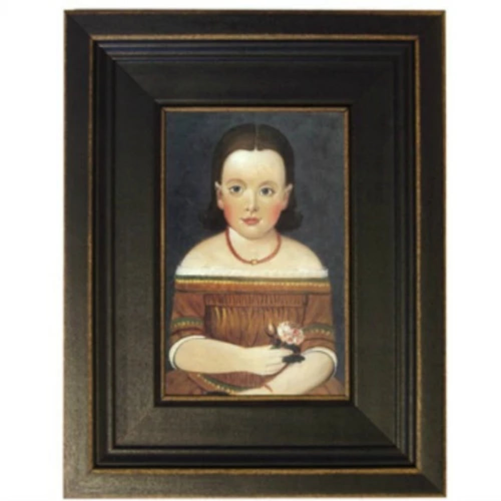 Girl in Brown Framed - Farmhouse-Primitives