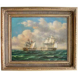 HMS Macedonia and USS United States Framed - Farmhouse-Primitives