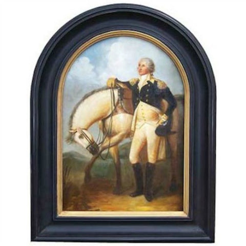 George Washington with Horse in Tombstone Frame - Farmhouse-Primitives