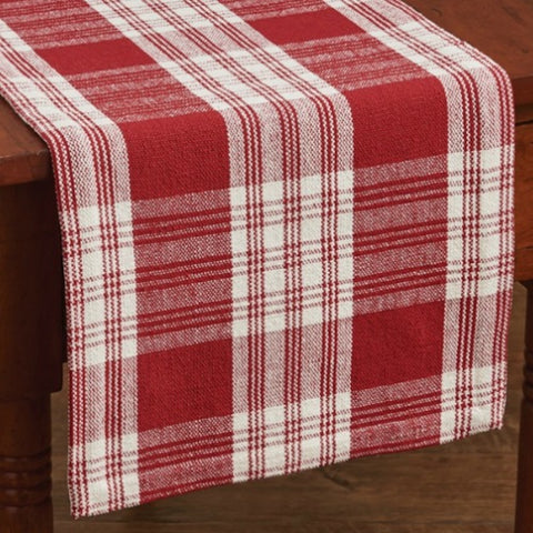 Dylan Red Table Runner - Farmhouse-Primitives