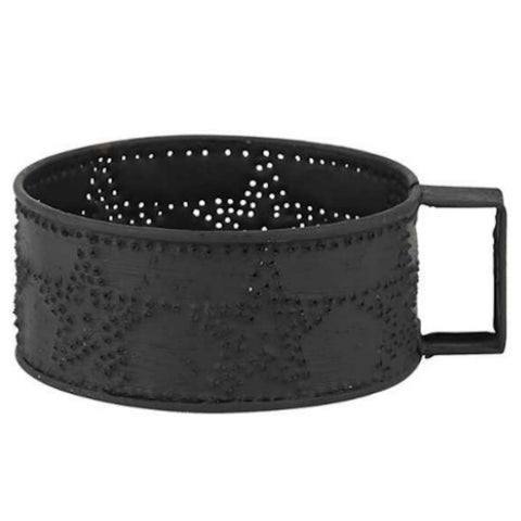Candle Mug Star Punched Design