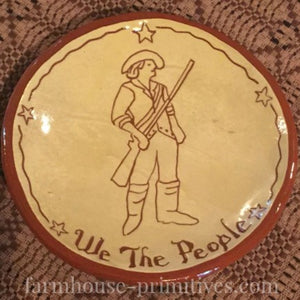 We The People Redware Plate - Farmhouse-Primitives