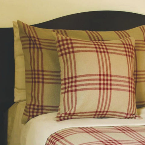 Chesterfield Check Red Bedding - Farmhouse-Primitives