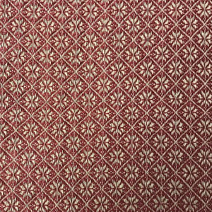 Cherry Blossom Red/Tan Curtains - Farmhouse-Primitives