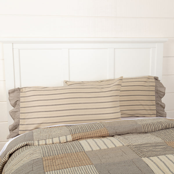 Sawyer Mill Charcoal Patchwork Bedding