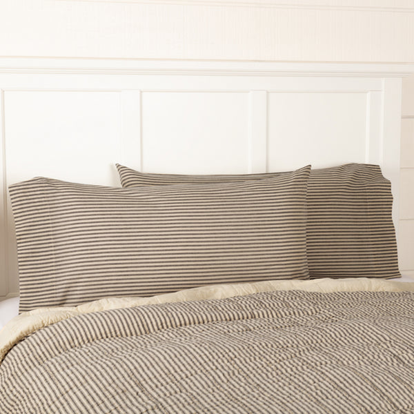 Sawyer Mill Charcoal Stripe Bedding