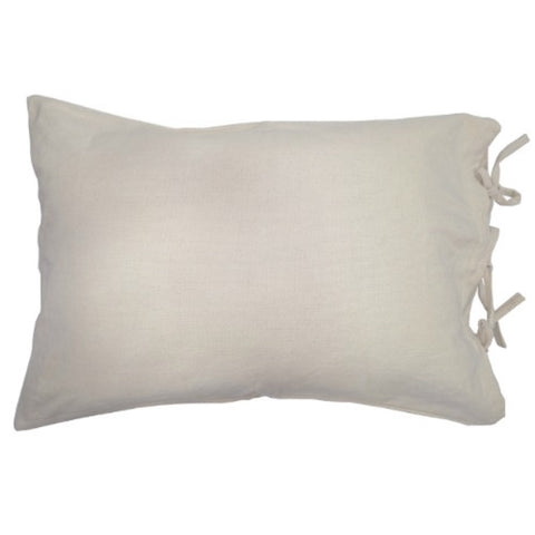 Creme Pillow Sham with Ties