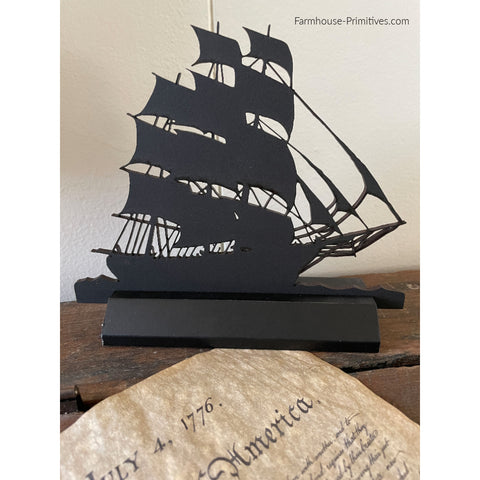 Tall Ship Wood Silhouette #2 - Farmhouse-Primitives