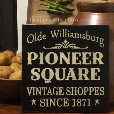 Pioneer Square Sign