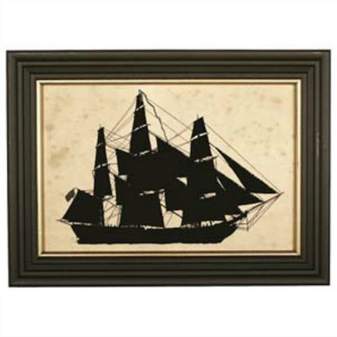 Merchant Ship Silhouette - Farmhouse-Primitives