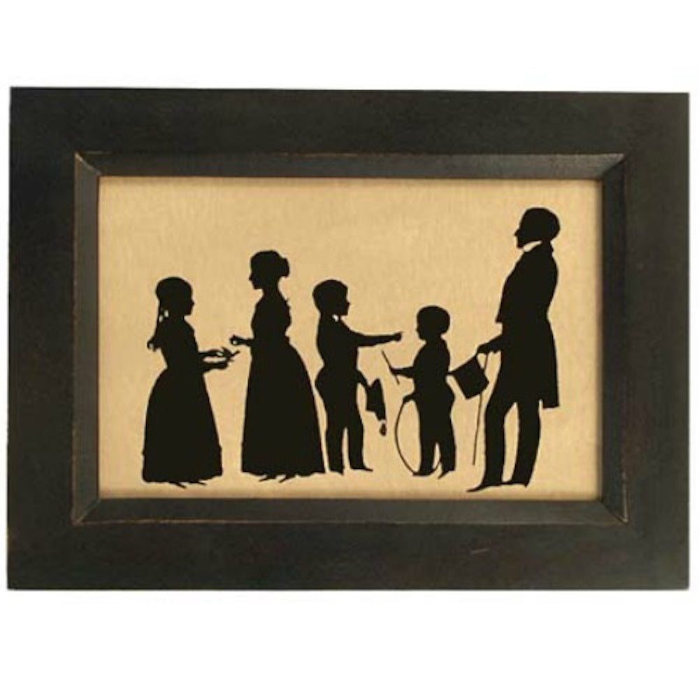Colonial Family Silhouette - Farmhouse-Primitives
