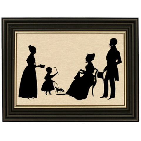 Daughters and Parents Silhouette