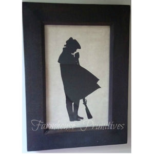 1776 Revolutionary Soldier Silhouette