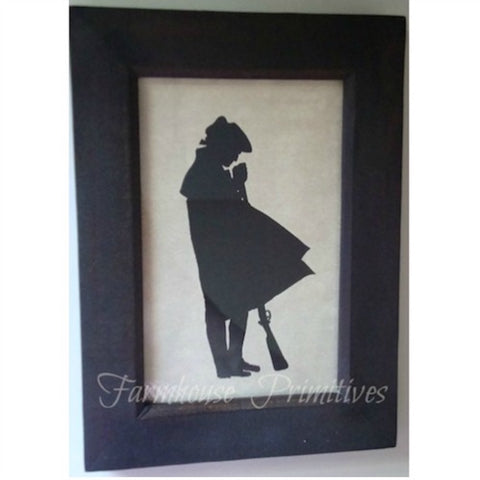 1776 Revolutionary Soldier Silhouette - Farmhouse-Primitives