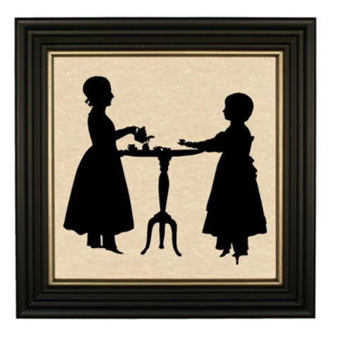 Tea Party Silhouette - Farmhouse-Primitives