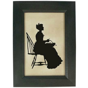 Woman in Windsor Chair Silhouette - Farmhouse-Primitives
