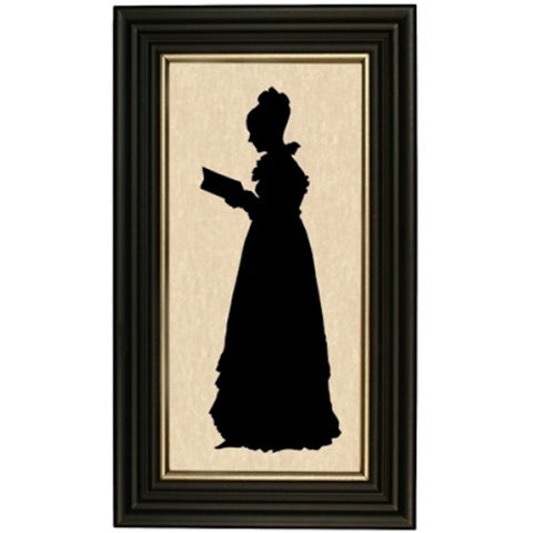 Woman with Book Silhouette