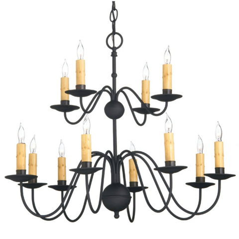 Stafford 12 Arm Chandelier - Farmhouse-Primitives
