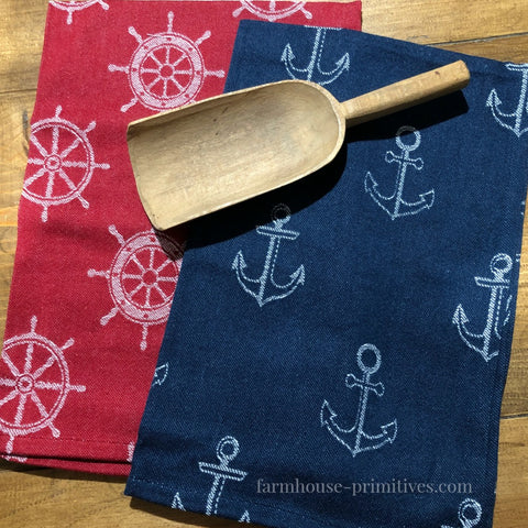Nautical Jacquard Dish Towel - Farmhouse-Primitives