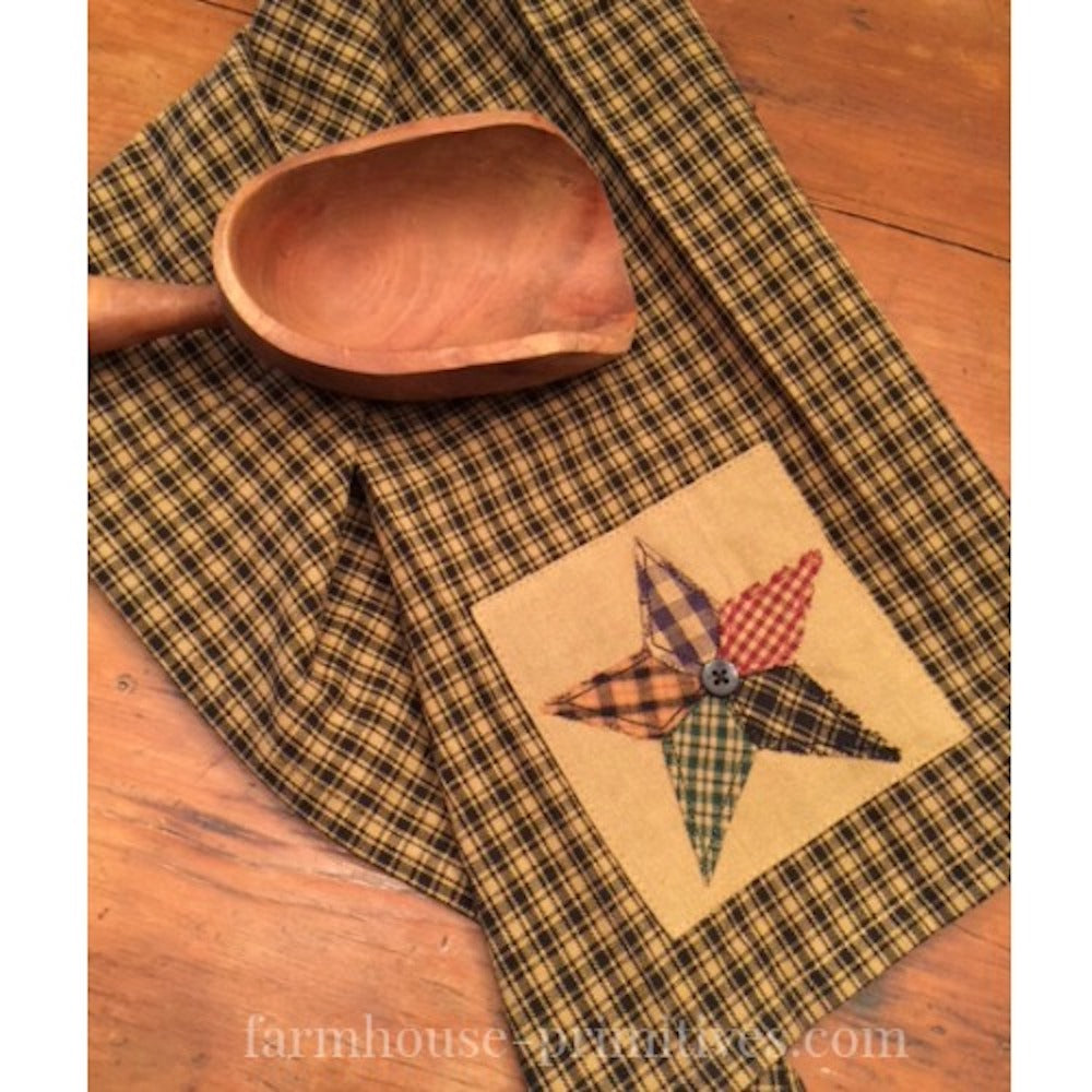 Pieced Star Dish Towel