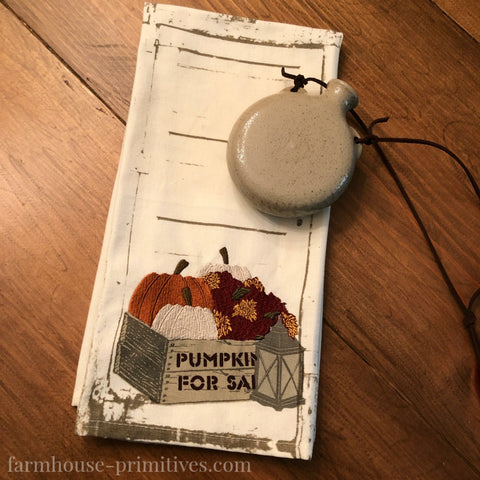 Crate of Pumpkins Dish Towel